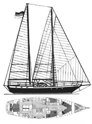 BELLIURE 50 (SCHOONER) drawing
