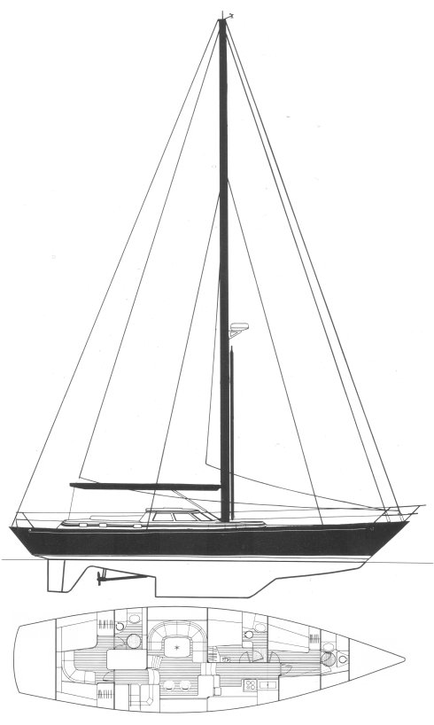 Belliure 63 drawing on sailboatdata.com