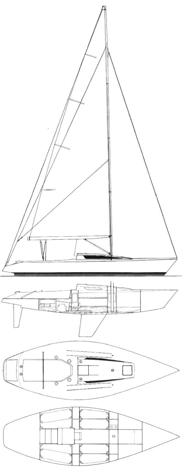 BENETEAU 1 TON drawing