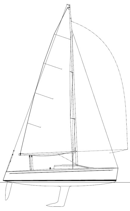Beneteau 25 Platu drawing on sailboatdata.com