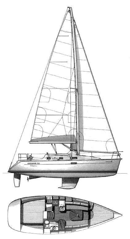 BENETEAU 311 drawing