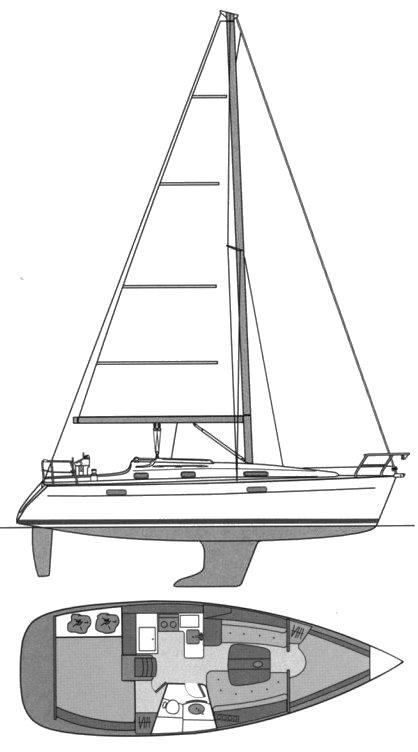 BENETEAU 331 drawing