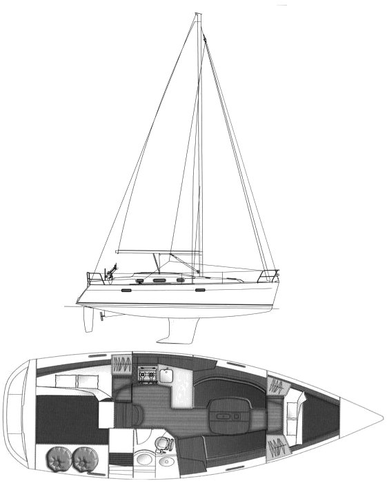 OCEANIS 343 (BENETEAU) drawing