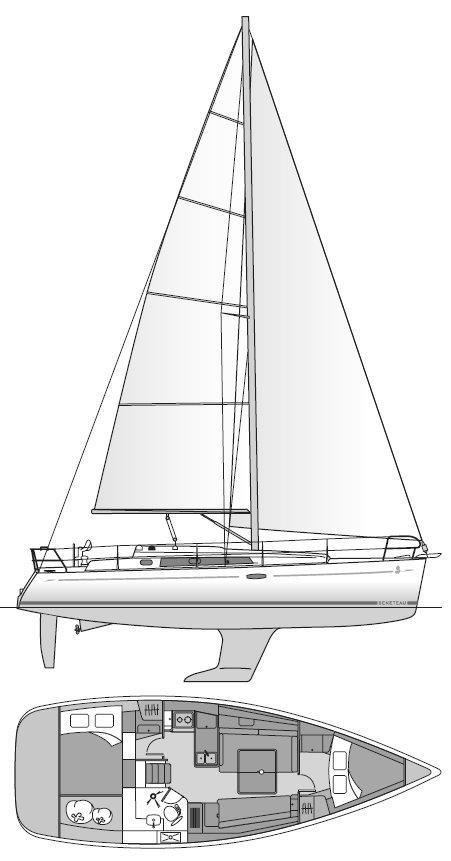 BENETEAU 37 drawing