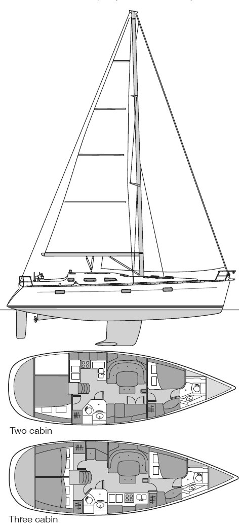 BENETEAU 393 drawing