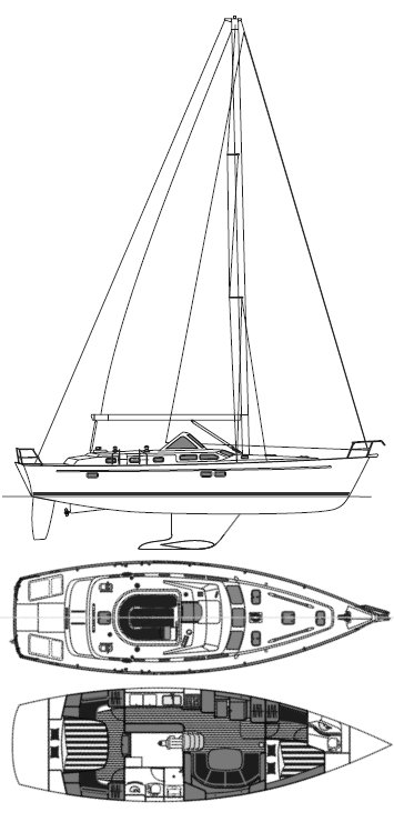 BENETEAU 42 CC drawing