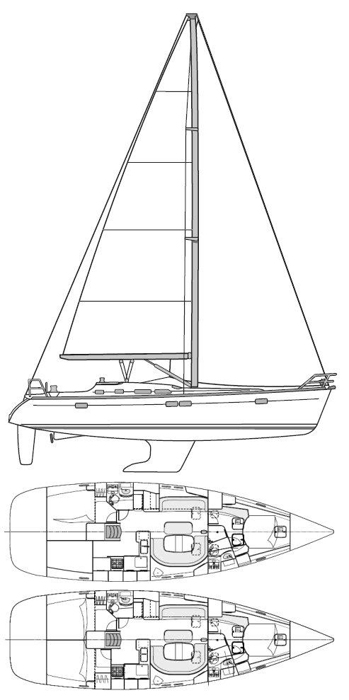 BENETEAU 473 drawing