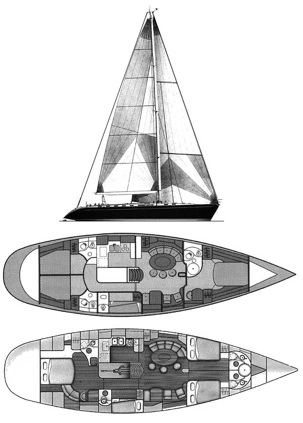 BENETEAU 62 drawing