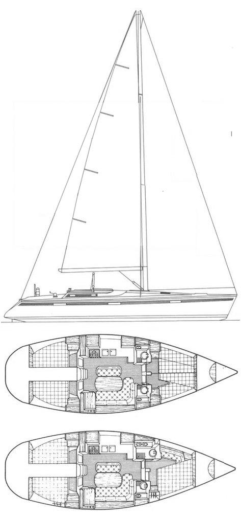 OCEANIS 430 (BENETEAU) drawing