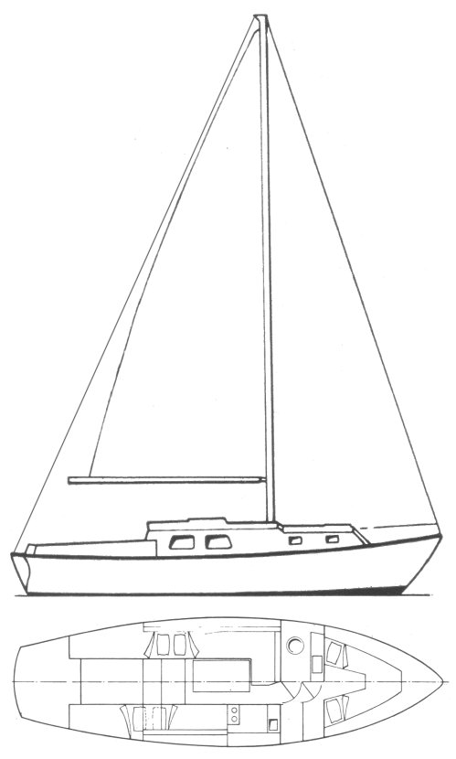 Berwick 31 (Westerly) drawing on sailboatdata.com