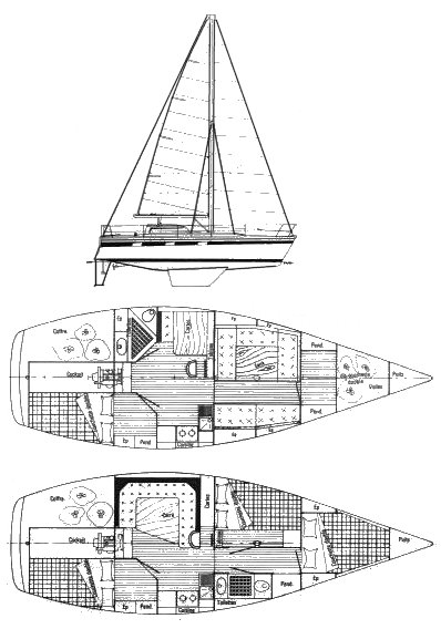 Bi-Loup 10 drawing on sailboatdata.com