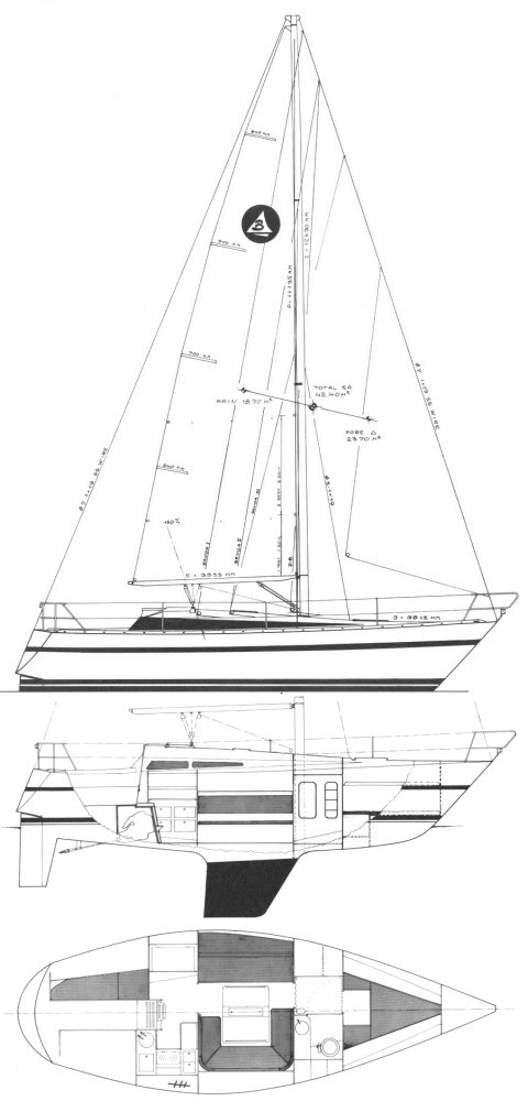 RIVIERA 32 (S&S) drawing