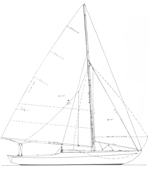Bird Class drawing on sailboatdata.com