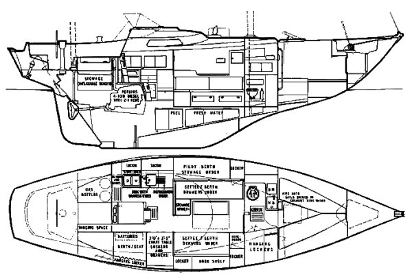 BISCAY 36 drawing