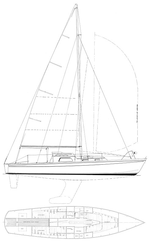 Black Soo drawing on sailboatdata.com