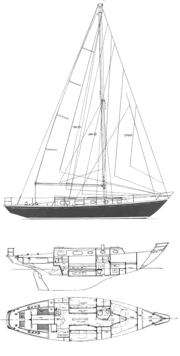 Black Watch 37 drawing on sailboatdata.com