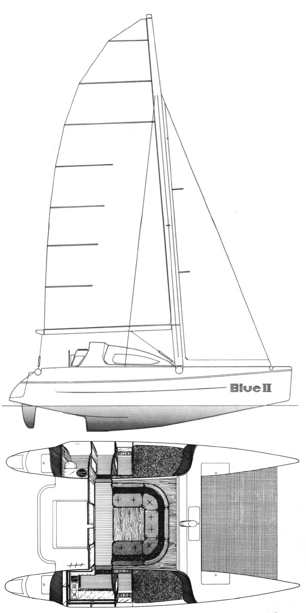BLUE II (BENETEAU) drawing