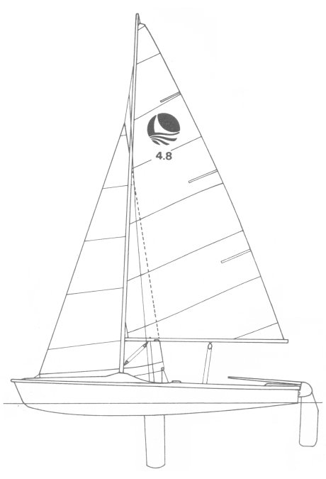 Bombardier 4.8 drawing on sailboatdata.com