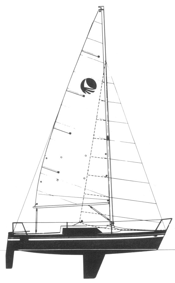 Bombardier 7.6 drawing on sailboatdata.com