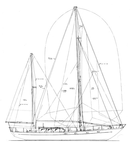 Boothbay Challenger drawing on sailboatdata.com