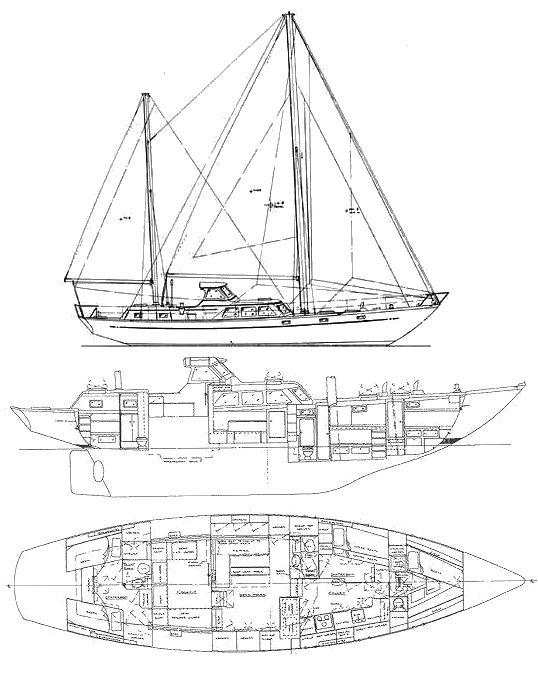 Boothbay Explorer drawing on sailboatdata.com