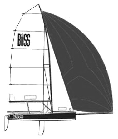 Boss Dinghy drawing on sailboatdata.com