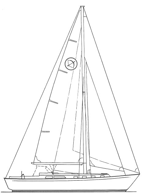 Bowman 40 (Paine) drawing on sailboatdata.com