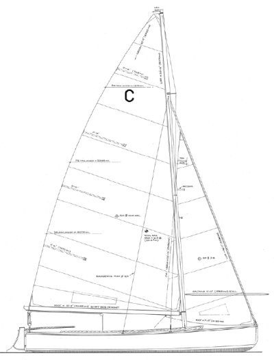 Brightlingsea One Design drawing on sailboatdata.com