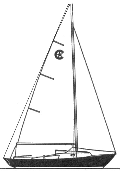 Bristol 19 drawing on sailboatdata.com
