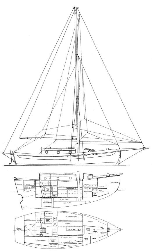 BRISTOL CHANNEL CUTTER drawing