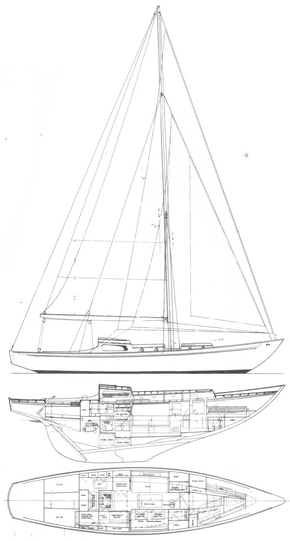 Brittany Class drawing on sailboatdata.com