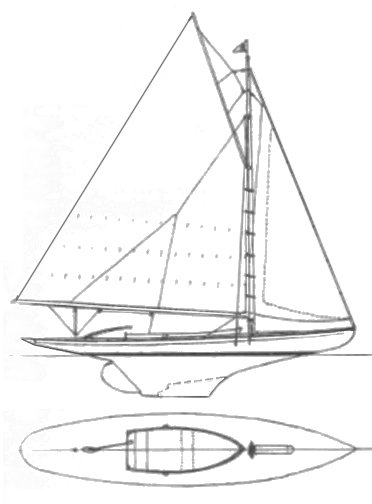 Broads One-Design drawing on sailboatdata.com