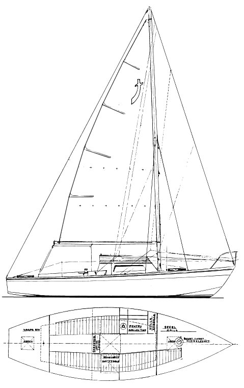 Buccaneer (Stadt) drawing on sailboatdata.com