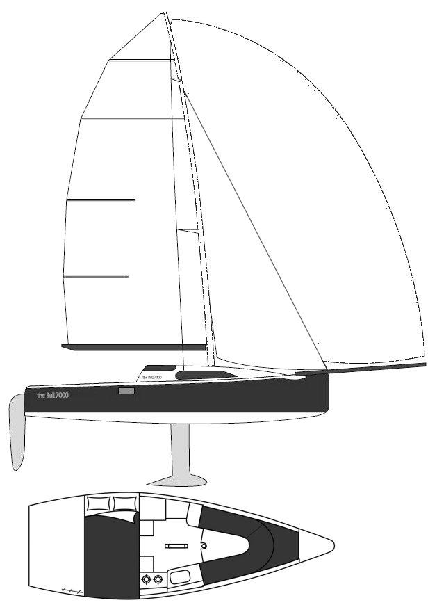 Bull 7000 drawing on sailboatdata.com