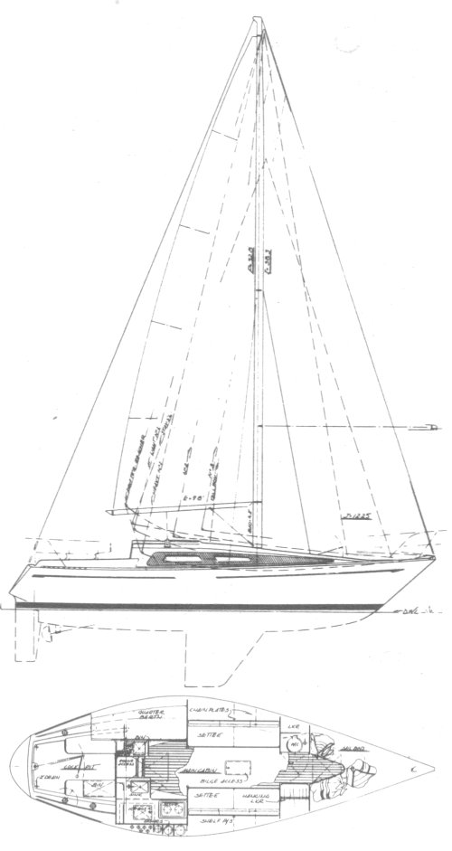 Bystedt 30 drawing on sailboatdata.com