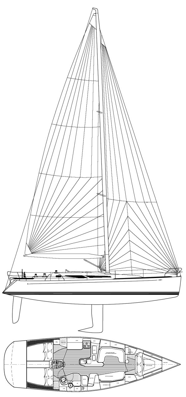 C&C 131 drawing on sailboatdata.com