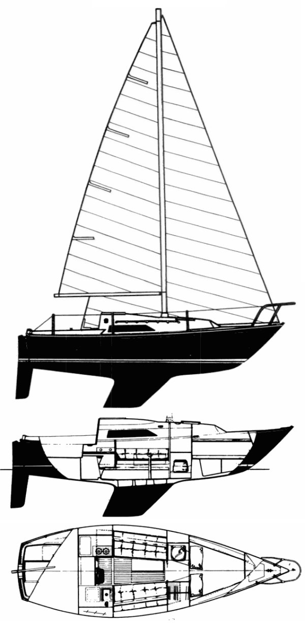 C&C 25 MKII drawing