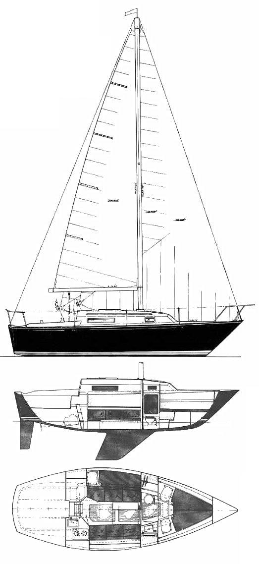 C&C 26 drawing