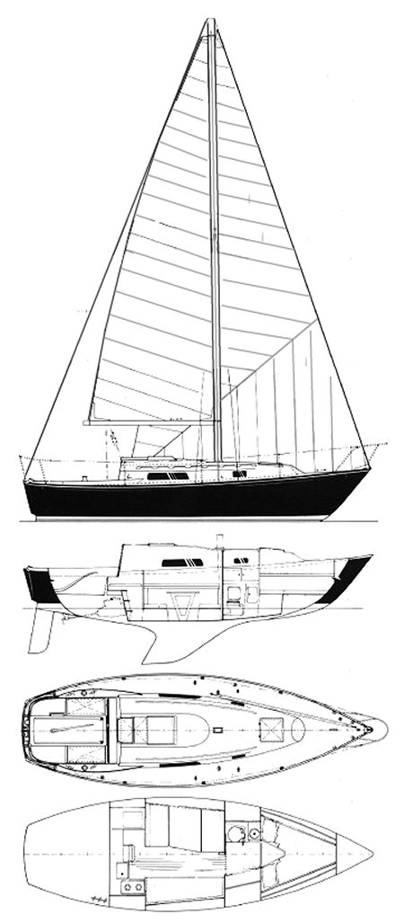 C&C 27 MK III drawing on sailboatdata.com