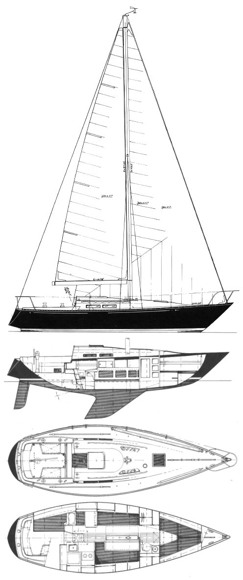 C&C 33 drawing on sailboatdata.com