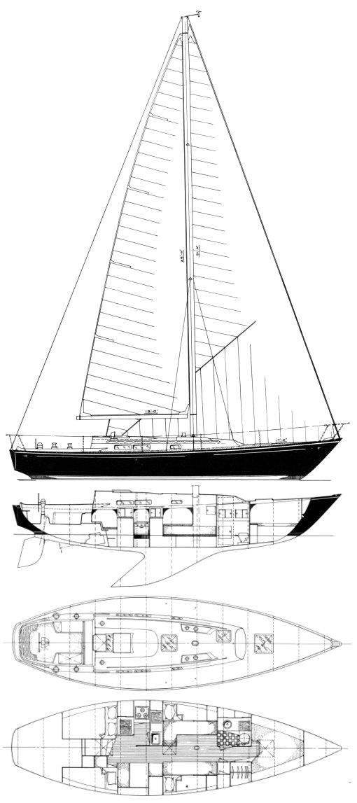 C&C 39 drawing