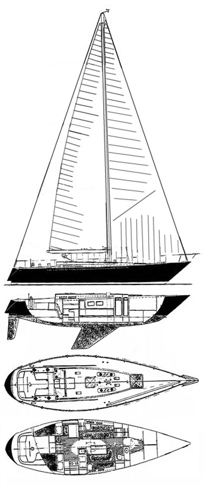 C&C 42 Custom drawing on sailboatdata.com
