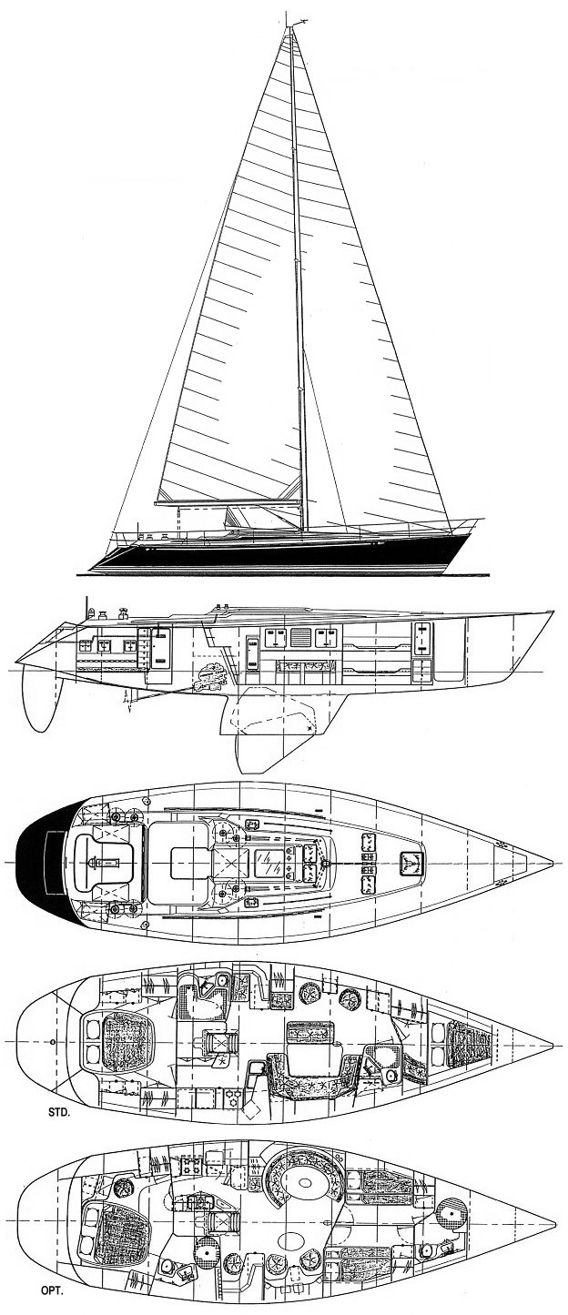 C&C 51 Custom drawing on sailboatdata.com