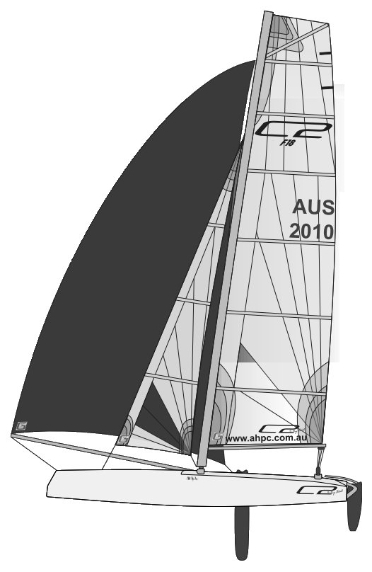 C2 F18 drawing on sailboatdata.com