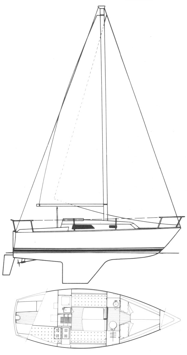 Cal 25-2 drawing on sailboatdata.com