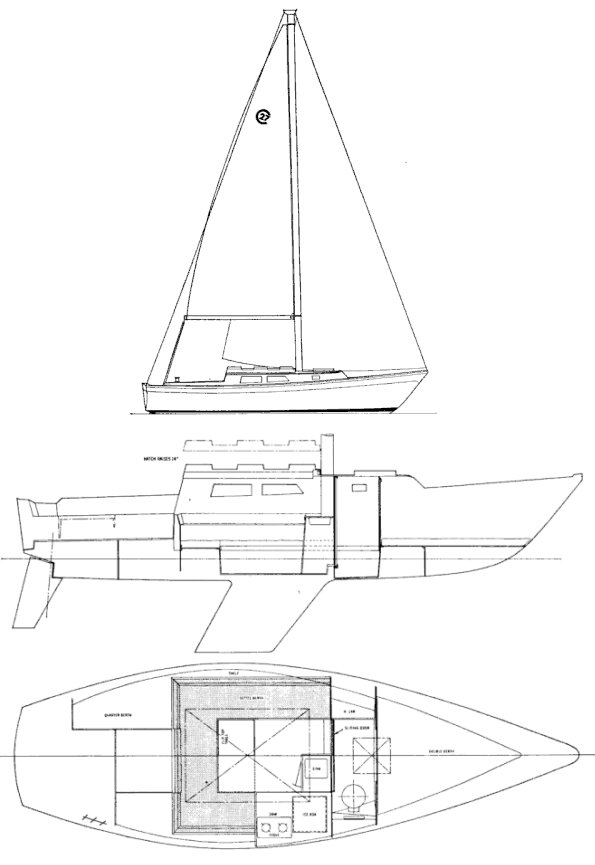 CAL 27 drawing