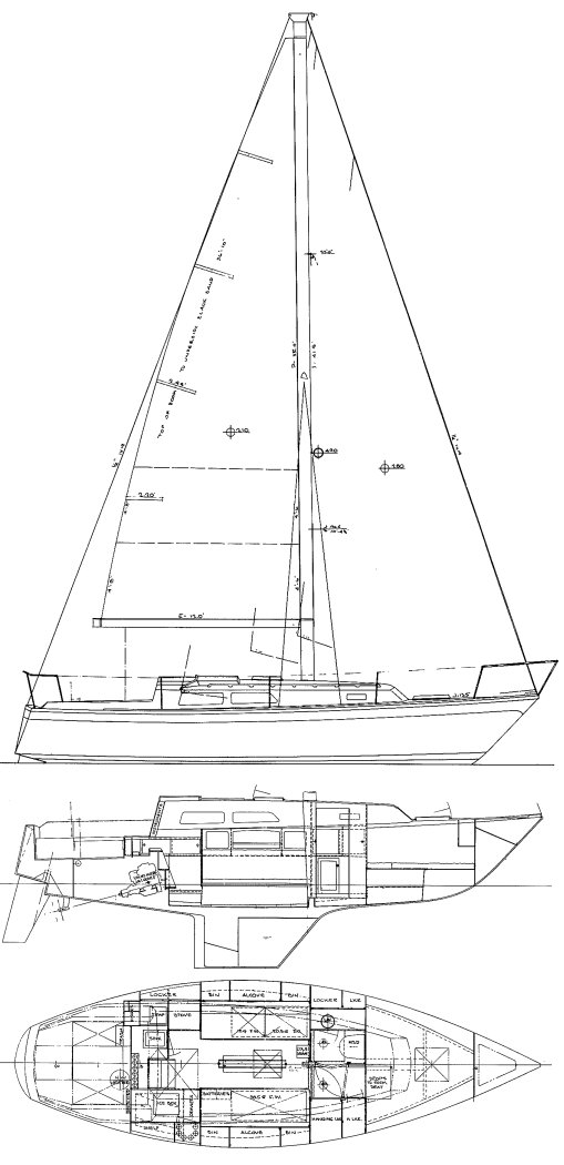 Cal 31 drawing (from Justin) on sailboatdata.com