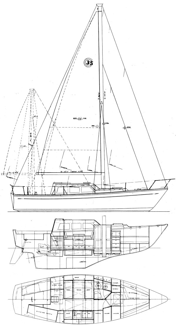 CAL 35 CRUISE drawing