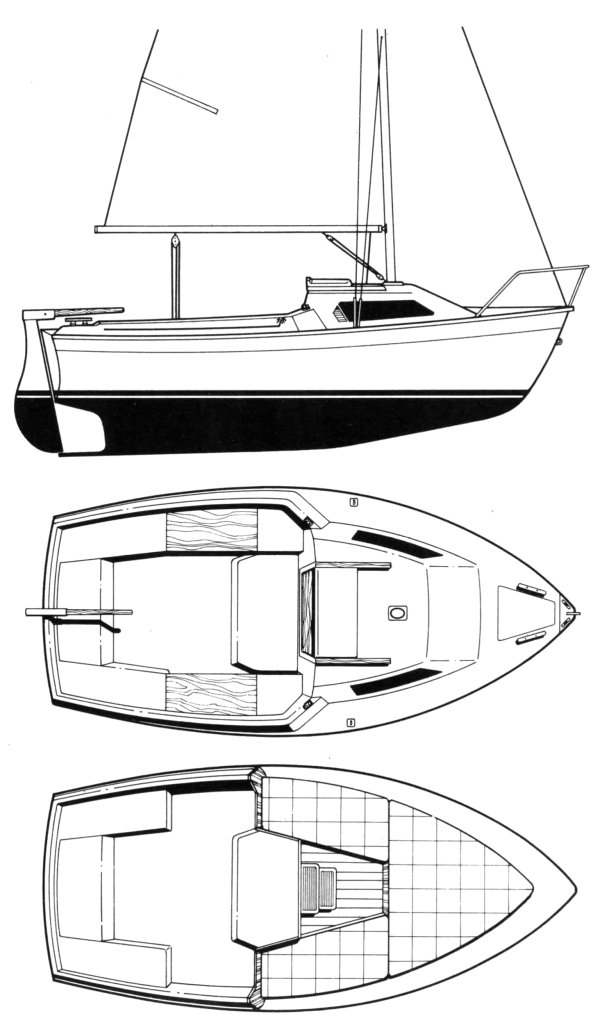 California 470 (Beneteau) drawing on sailboatdata.com