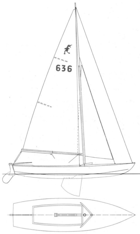 Caneton Brix drawing on sailboatdata.com